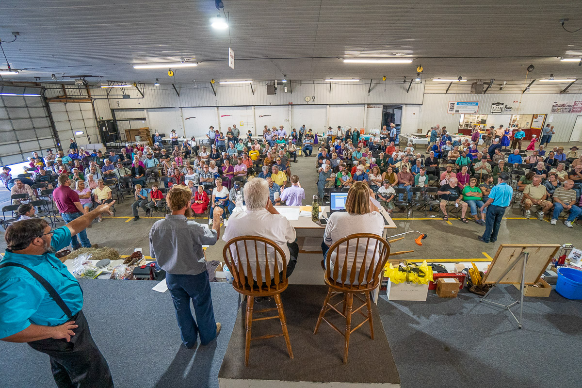 Fundraising auction at the Shipshewana Auction Barn for The Farm Place