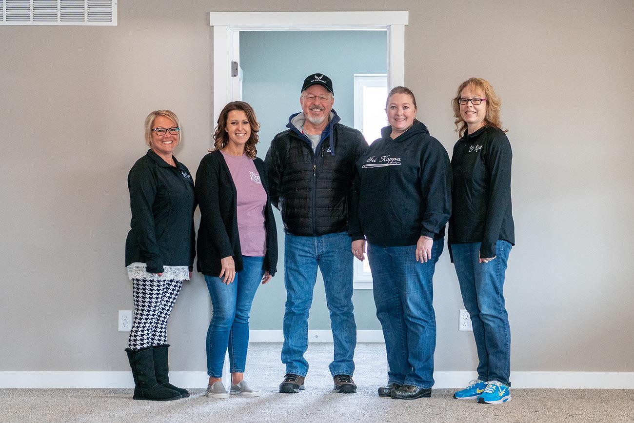 Tri Kappa LaGrange members with Farm board member Keith James